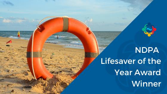 NDPA Lifesaver of the year award winner